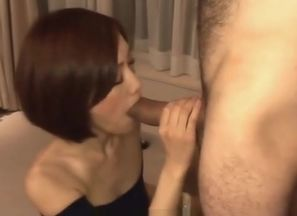 Cute Nene Iino provides fine blow-job