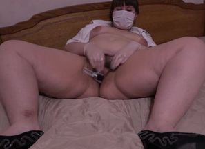 meaty nurse with furry by a poon..