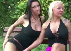 2 German Girl-on-girl Nubile Caught..