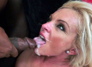 Bigtits grandma poked by ebony man meat