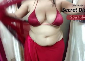 Saree paramour - Crimson Bathing suit..