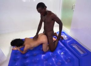 A ebony boy comes for a rubdown but he..
