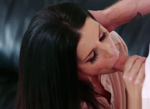 India Summers muff feeds Dylan Snow as..