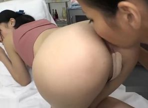 Asian girl-on-girl massagist is..