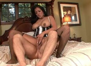Insane maid in enjoy with her chief