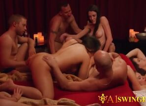 These swinger couples are  and  to..