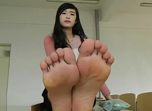 Sock and naked soles