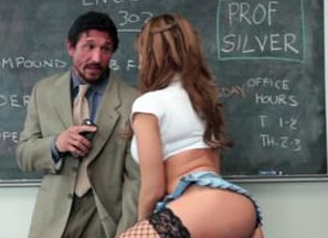 Chesty Young lady Plumbs Lecturer and..