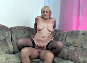 German Grannie get torn up by maiden..